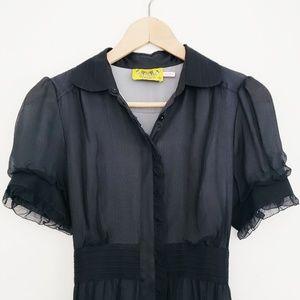 100% Silk Juicy Couture Midi Dress -  Small